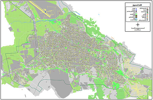 نقشه تبریز