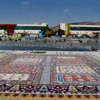 اولین فرش سنگی جهان در میدان ایپک تبریز